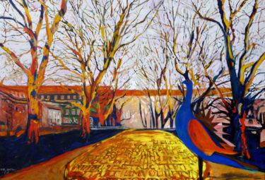 Szczecin with bluebird